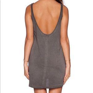 MINKPINK Low Back Charcoal Dress